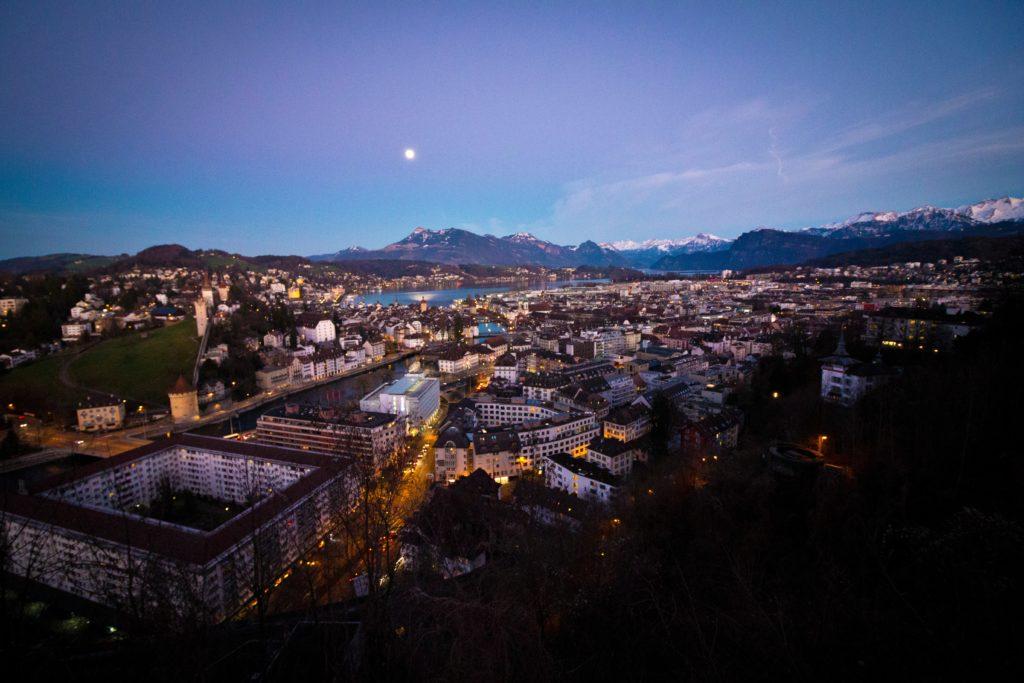 Nighttime in Lucerne, Switzerland