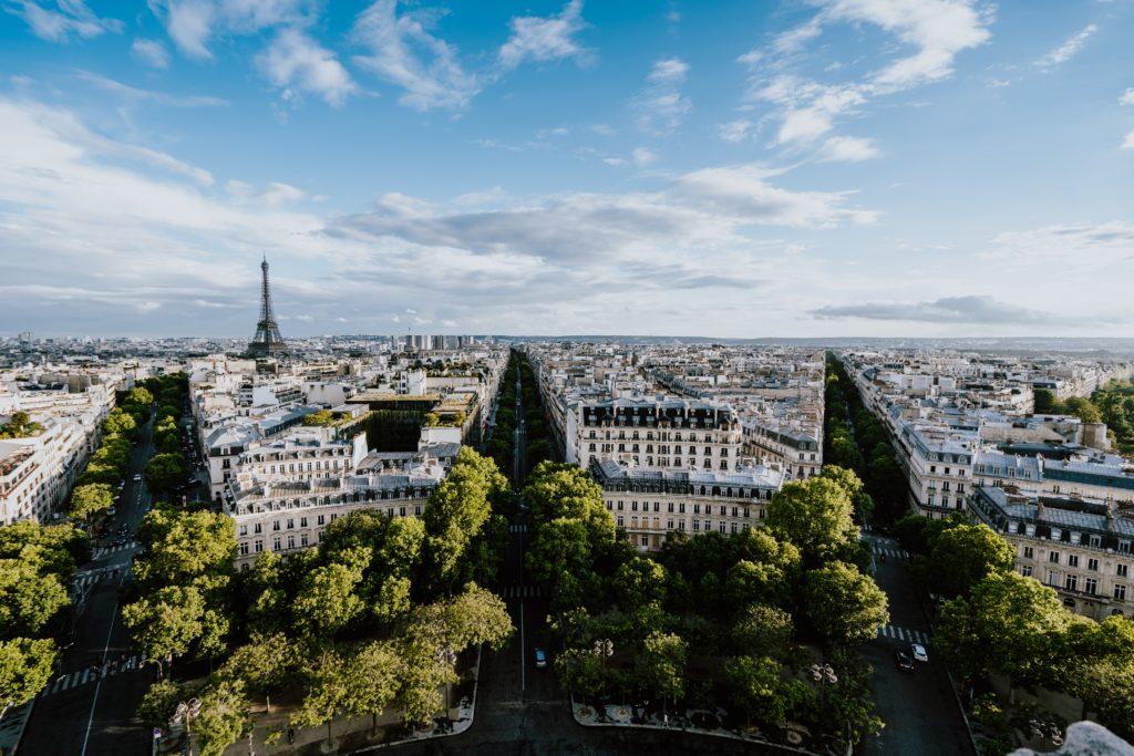 View from the Arc de Triomphe, Paris, France